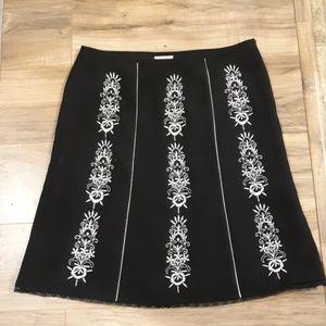 Ann Taylor Loft Petites Embroidered Skirt. Sz 14P